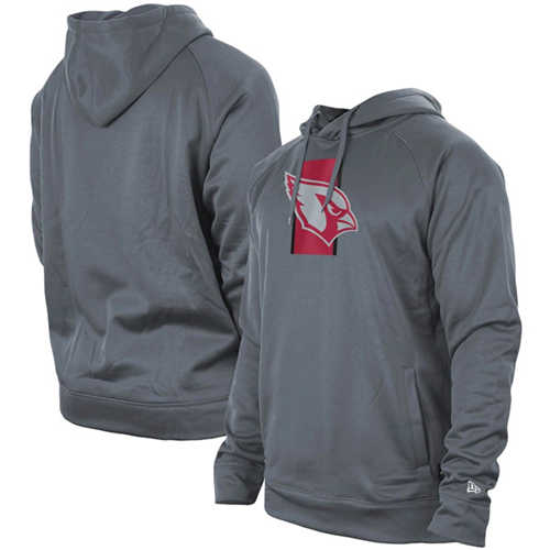 Men's Arizona Cardinals Gray New Era Training Camp Raglan Pullover Hoodie