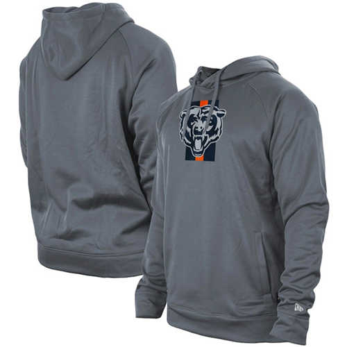 Men's Chicago Bears Gray New Era Training Camp Raglan Pullover Hoodie