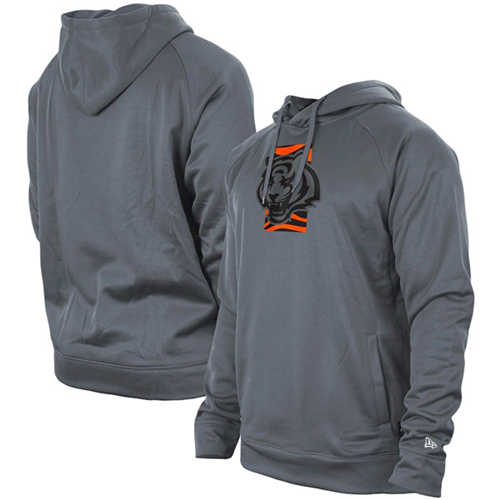 Men's Cincinnati Bengals Gray New Era Training Camp Raglan Pullover Hoodie