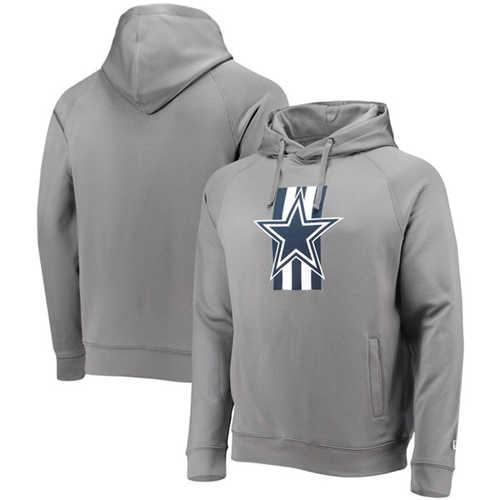 Men's Dallas Cowboys Gray New Era Training Camp Raglan Pullover Hoodie