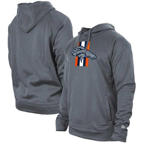Men's Denver Broncos Gray New Era Training Camp Raglan Pullover Hoodie