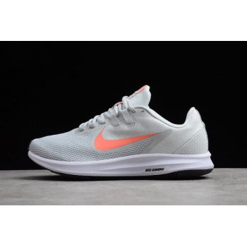 2019 Wmns Nike Downshifter 9 Grey/Orange-White Running Shoes AQ7486-010 Shoes