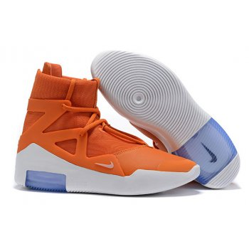 2019 Nike Air Fear of God 1 Orange/White Shoes