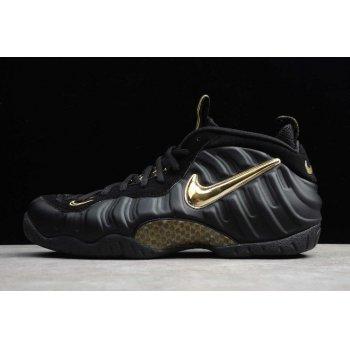 2019 Nike Air Foamposite Pro Black/Metallic Gold 624041-009 Shoes