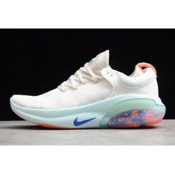 2019 Nike Joyride Run Flyknit Platinum Tint/White/Bright Mango/Racer Blue Running Shoe AQ2731-100 Shoes