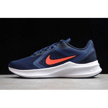 2020 Nike Downshifter 10 Midnight Navy/Obsidian Mist/White/Laser Crimson CI9981-400 Shoes