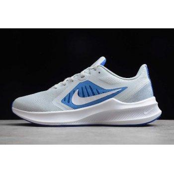 2020 Nike Downshifter 10 Pure Platinum Grey White Blue CI9981-001 Shoes