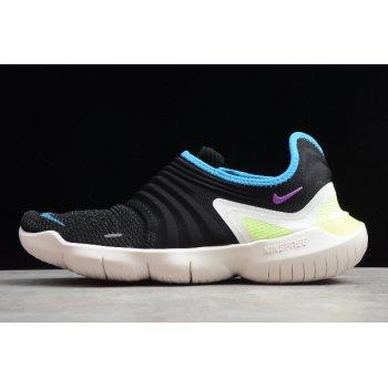 2020 Nike Free RN Flyknit 3.0 Black Laser Orange AQ5707-003 Shoes