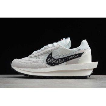 2020 Sacai x Dior x Nike LVD Waffle Daybreak White/Dark Grey-Grey CN8898-002 Shoes