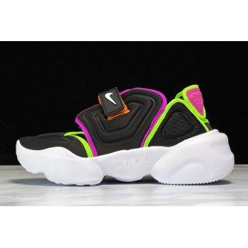 2020 WMNS Nike Aqua Rift Black/White-Fire Pink-Green Strike BQ4797-001 Shoes