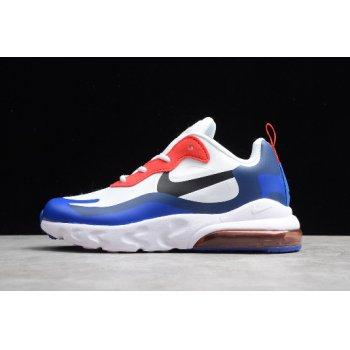 Kid's Nike Air Max 270 React White/Royal-Bright Red CD2655-004 Shoes