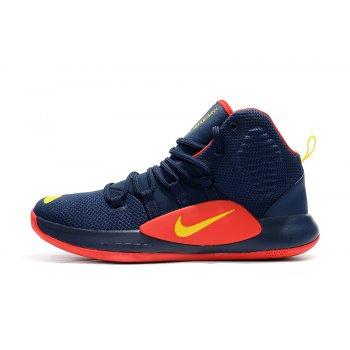 Men's Nike Hyperdunk X Navy Blue/Red-Yellow Basketball Shoes Shoes
