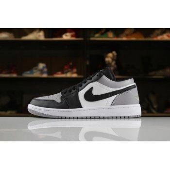 New Air Jordan 1 Low White/Atmosphere-Black 553558-110 Shoes