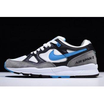 Nike Air Span II Black/Laser Blue/Dust-White AH8047-001 Shoes