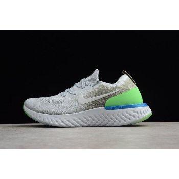 Nike Epic React Flyknit Light Grey/Green-Blue Running Shoes AQ0067-008 Shoes