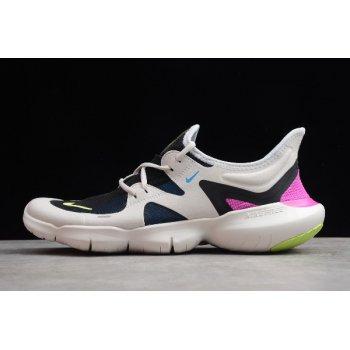 Nike Free RN 5.0 White Summit/Volt Glow/Hyper Violet Men's Running Shoes AQ1289-100 Shoes