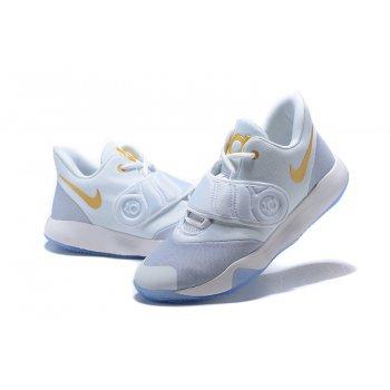 Nike KD Trey 5 VI White/Metallic Gold-Grey Shoes