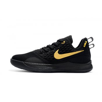 Nike LeBron Witness 3 Black Gold Basketball Shoes Shoes