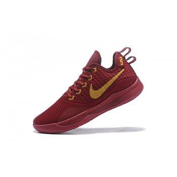 Nike Lebron Witness 3 Red Wine/Metallic Gold Shoes
