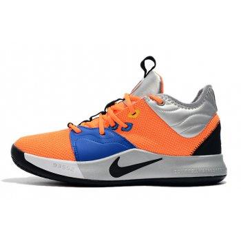 Nike PG 3 Orange/Metallic Silver-Blue-Black Shoes