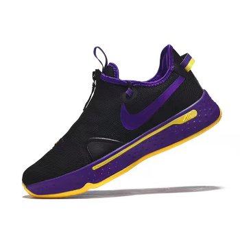 Nike PG 4 Black/Purple-Yellow 2020 Shoes