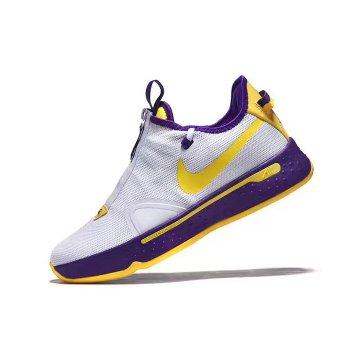 Nike PG 4 White/Purple-Yellow 2020 Shoes
