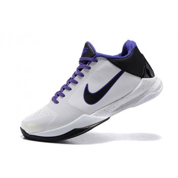 Nike Zoom Kobe 5 White/Purple-Black 2020 Shoes