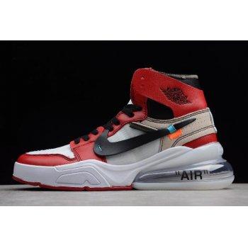 Off-White x Nike Air Force 270 x Air Jordan 1 High OG White/Black-Varsity Red Shoes
