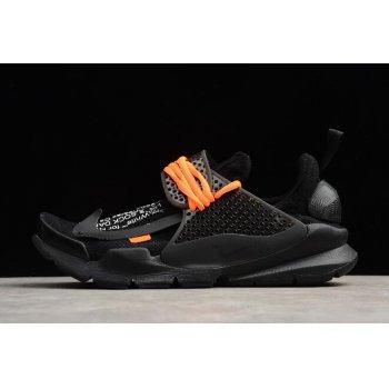 Cheap Off-White x Nike Sock Dart Black/Black-Volt Men's Size 819686-001 Shoes