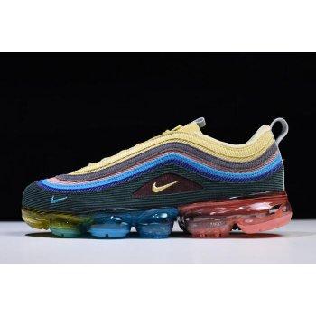 Sean Wotherspoon x Nike Air VaporMax 97 VF SW Hybrid Light Blue Fury/Lemon Wash AJ7291-400 Shoes