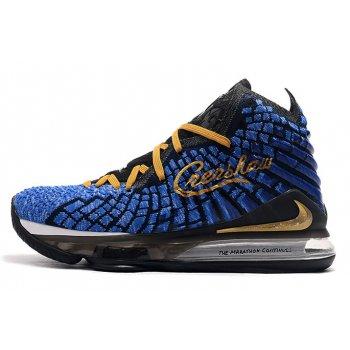 Shop Nike LeBron 17 Black/Blue-Gold-White Shoes Online Shoes