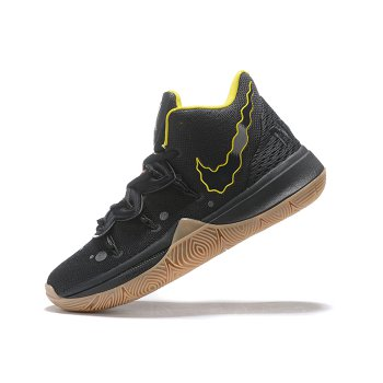 SpongeBob SquarePants x Nike Kyrie 5 Reaction Black/Yellow-Gum Men's Size Shoes