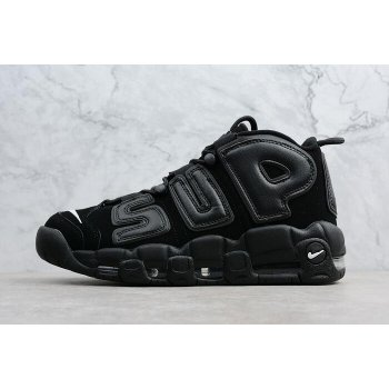 Supreme x Nike Air More Uptempo Black/Black-White Men's Size 902290-001 Shoes