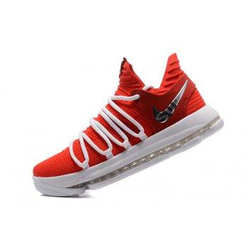 Supreme x Nike KD 10 University Red/White Men's Basketball Shoes Shoes