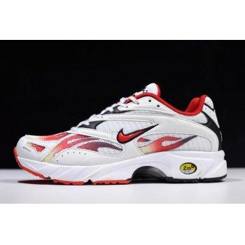 Supreme x Nike Zoom Streak Spectrum Plus White/Habanero Red-Black AQ1279-100 Shoes