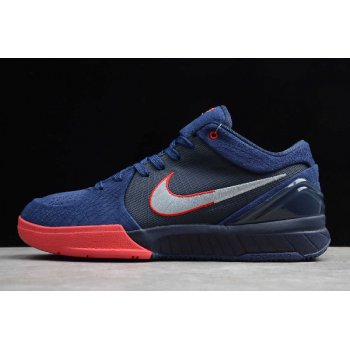 Undefeated x Nike Kobe 4 IV Protro Dark Blue/Red AV6339-040 Shoes