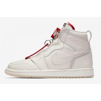 Vogue x Air Jordan 1 High Zip AWOK Sail/Sail-University Red BQ0864-106 Shoes