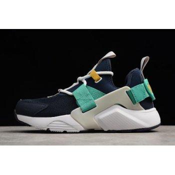 WMNS Nike Air Huarache City Low Obsidian/White-Vast Grey-Kinetic Green AH6804-401 Shoes