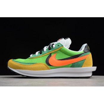 Waffle Daybreak and LDV Sacai x Nike Hybrid Collection Green/Yellow-White-Black-Orange Shoes