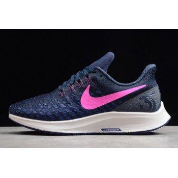 Wmns Nike Air Zoom Pegasus 35 Obsidian/Pink Blast-Summit White 942855-401 Shoes