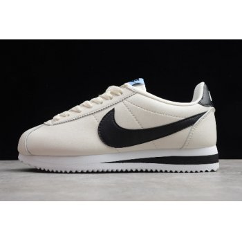 Wmns Nike Classic Cortez Leather Pale Ivory/Black 807471-111 Shoes