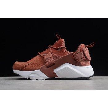 Women's Nike Air Huarache City Low Premium Burnt Orange AO3140-200 Shoes