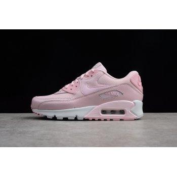 Women's Nike Air Max 90 Se Mesh GS Prism Pink/White 880305-600 Shoes