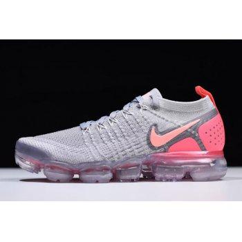 Women's Nike Air VaporMax Flyknit 2 Atmosphere Grey/Crimson Pulse 942843-005 Shoes