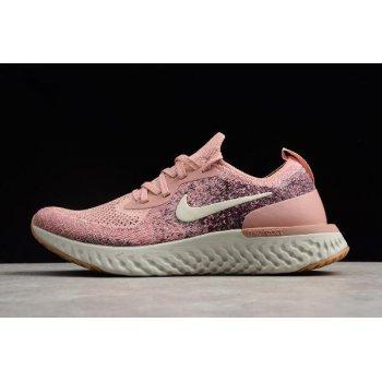 Women's Nike Epic React Flyknit Powder/Rice White Running Shoes AJ7286-661 Shoes