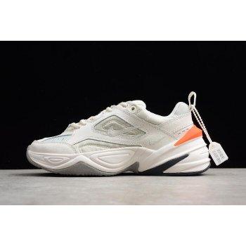 Women's Nike M2K Tekno Phantom/Olive Grey-Matte Silver-Hyper Crimson AO3108-001 Shoes