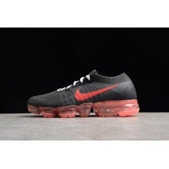 Women's NikeLab Air VaporMax Flyknit Black/Big Red AA3859-016 Shoes